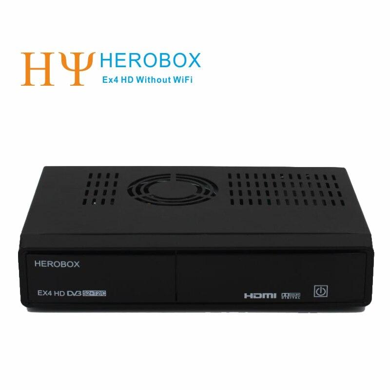 Genuine HEROBOX EX4 HD Without WiFi Linux Enigma2 Satellite receiver support DVB-S2+DVB-C+ DVB T2 set top box лонгслив rosa thea rosa thea ro043ewvxy45