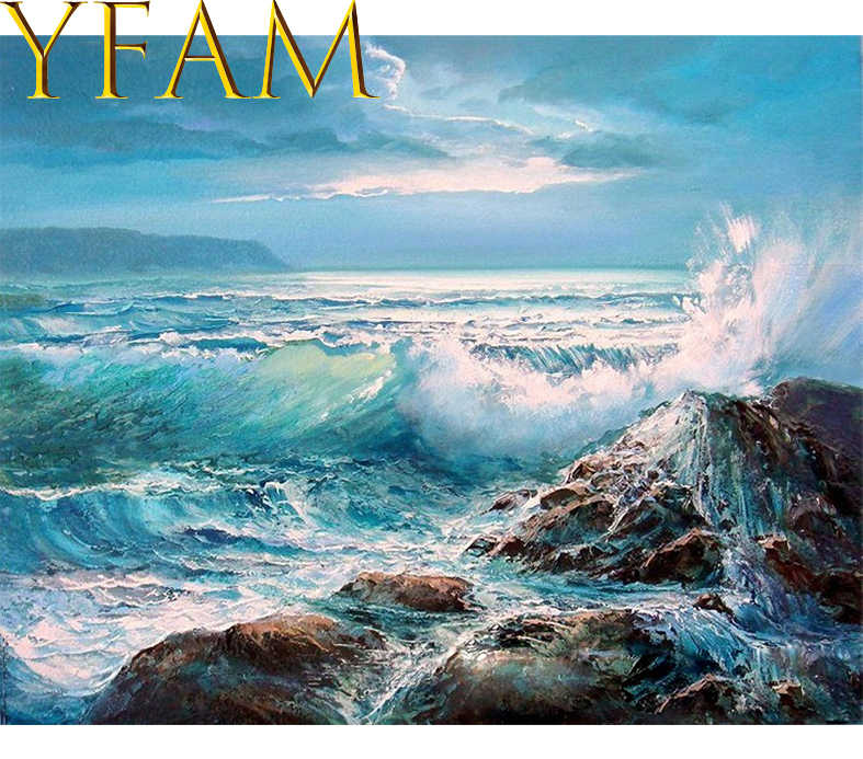Hand Oil Paint By Numbers DIY Kits Drawing Sea Waves Landscape Coloring Acrylic Paints On Canvas Wall Artwork Painting Picture