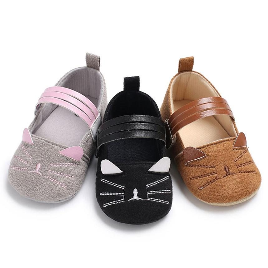 2018 New Hot Baby Infant Kids Girl Soft Sole Crib Toddler Newborn Shoes High Quality Lovely Gift