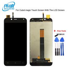 WEICHENG Top Quality For Cubot Magic LCD Display With Touch Screen Digitizer Assembly Replacement Accessories + Free tools