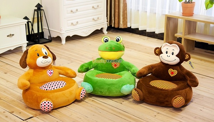 Fancytrader Cute High Quality Kids Toy 1 pc 48cmx50cmx45cm Plush Stuffed Frog Dog Monkey Sofa, 3 Models! Free Shipping FT90483 30cm plush toy stuffed toy high quality goofy dog goofy toy lovey cute doll gift for children free shipping