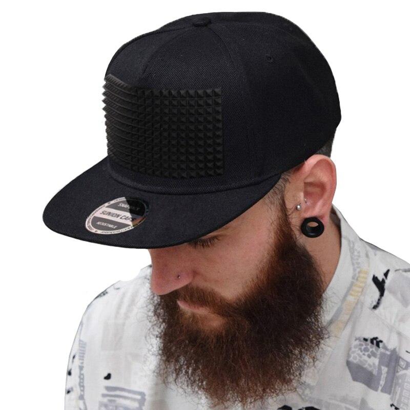 Prix pour Fantaisie 3D snapback cap soulevées en silicone souple carré pyramide plat baseball hip hop chapeau pour garçons et filles