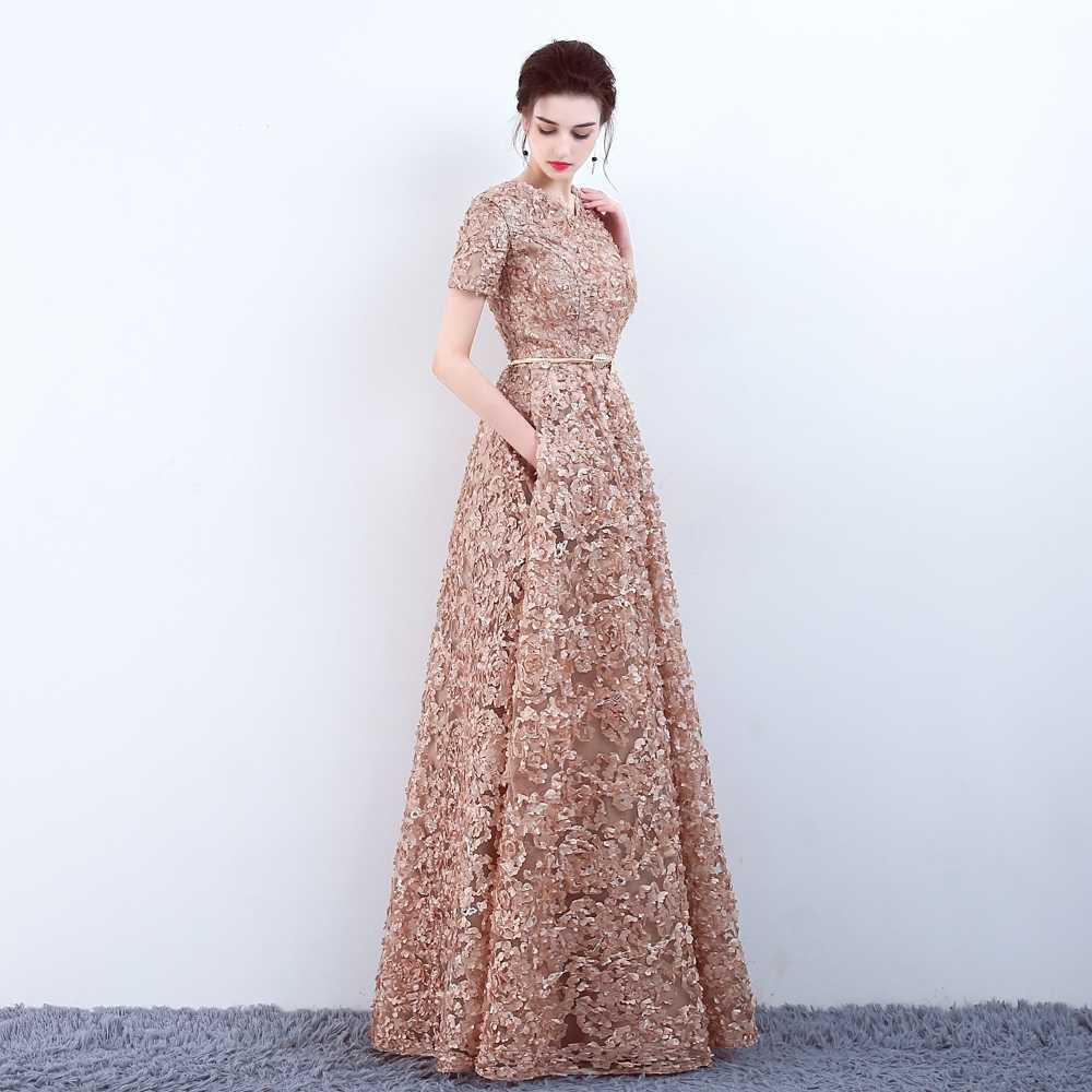 31eb89317c0 High Low Floral Print Long Prom Dress With Pockets - Gomes Weine AG