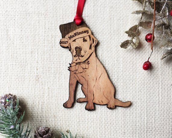 labrador personalized christmas ornament yellow lab custom pet gift for dog lover pet