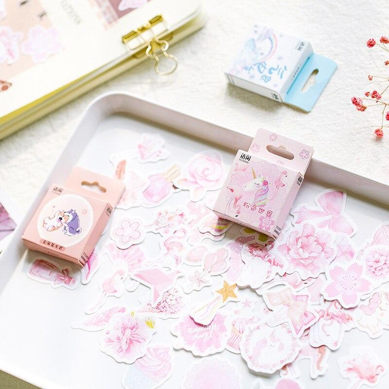 Kawaii Unicorn Akita Cake Bullet Journal Decorative Stickers Scrapbooking Stick Label Diary Stationery Album Stickers