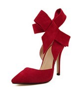 Fashion Pointed Toe Big Bowtie Thin High Heels Shoes