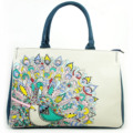 Chinese national wind style creative printing bag foreign trade fashion hand painted linen shoulder  bag