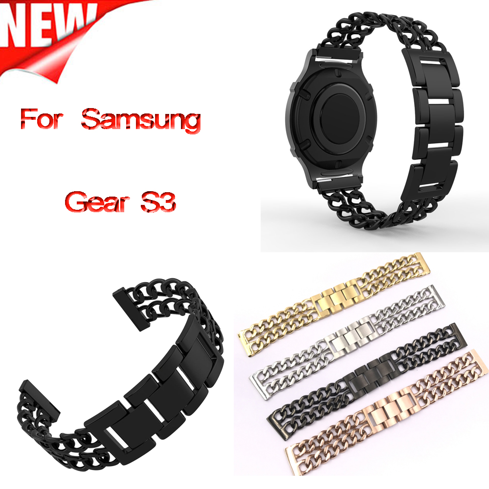 Galleria fotografica For Samsung Gear S3 Frontier Band,Steel Replacment Accessories Stainless Steel Wristband for Samsung Gear S3 Frontier Classic S