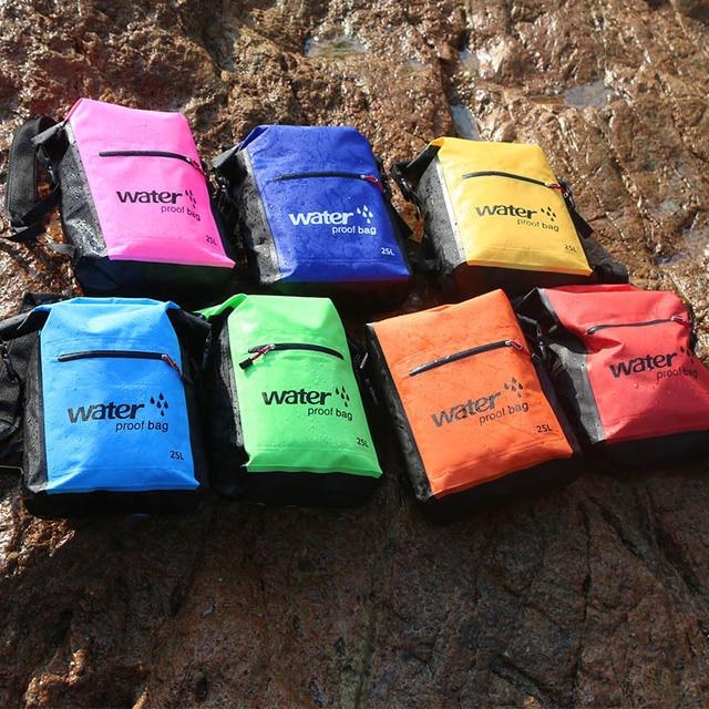25L Outdoor Waterproof Dry Bag Backpack Sack Storage Bag Rafting Sports Kayaking Canoeing Swimming Bags Travel Kits Backpacks 3