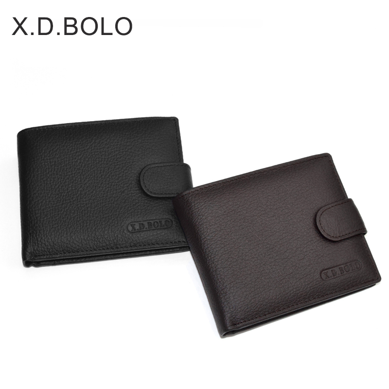 X.D.BOLO Wallet Men Leather Genuine Cow Leather Man Wallets With Coin Pocket Man Purse leather Money Bag Male Wallets Wholesale 4