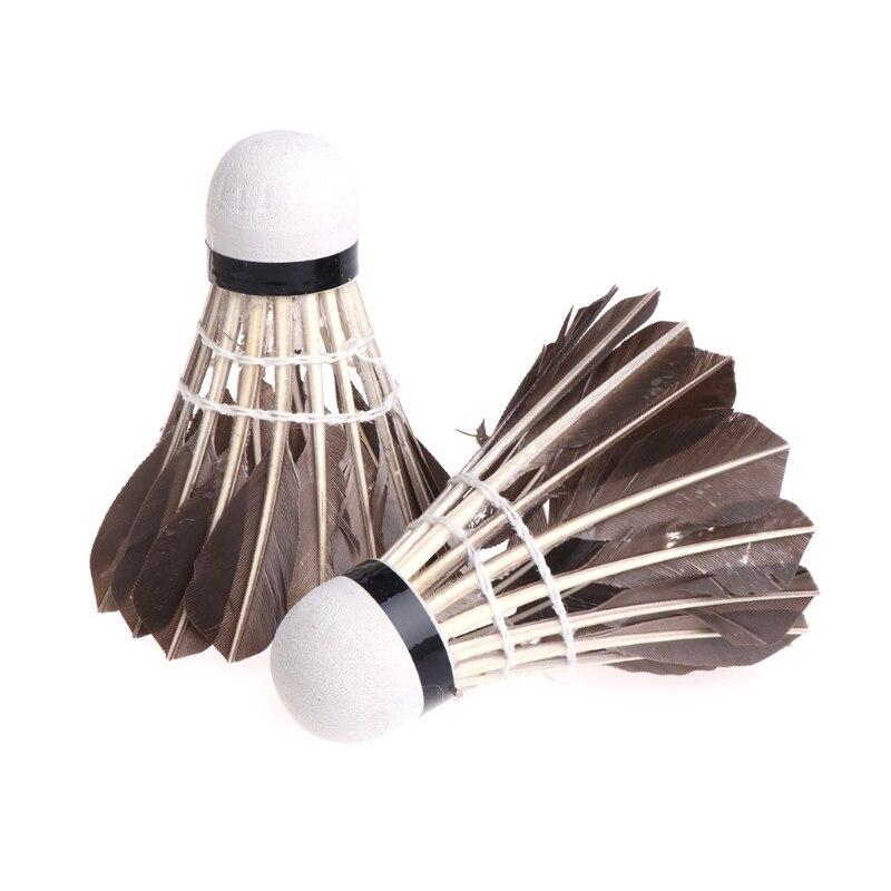 12pcs Top Grade Black Feather Badminton Training Shuttlecock Durable Foam Head