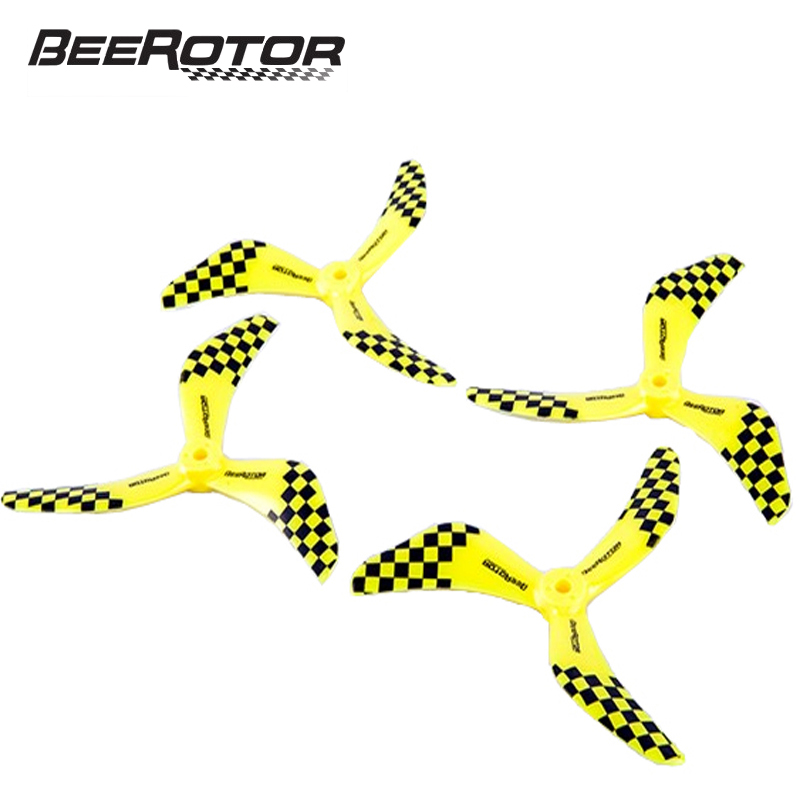 2Pairs BeeRotor 5x4.3'' 5043 CW CCW Propeller 5 Inch 3-Blades Props BR5043-01 for RC Plane Multi-rotors Pro f17778 4pcs lot 2 pairs fpv nylon fiber cw ccw propeller for yuneec typhoon q500