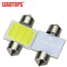 LEADTOPS 10PCS Wholesale Car Led Reading Lights Festoon C5W COB 31MM 36MM 39MM Bulbs White Over