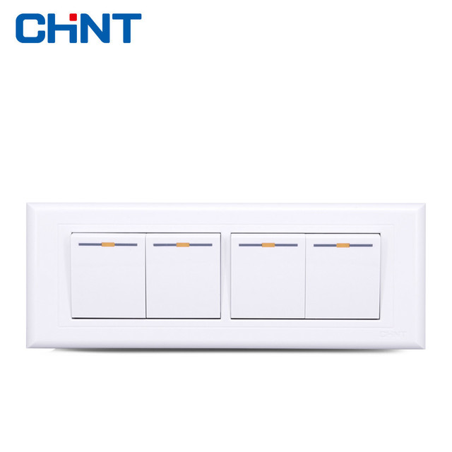 CHINT Wall Light Switches NEW5G Four Position Four Gang Two Way Wall ...