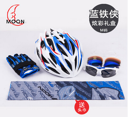 MOON 2017 Newest style bike helmet professional  sports safety good quality helmet MV37 gift set moon flac style