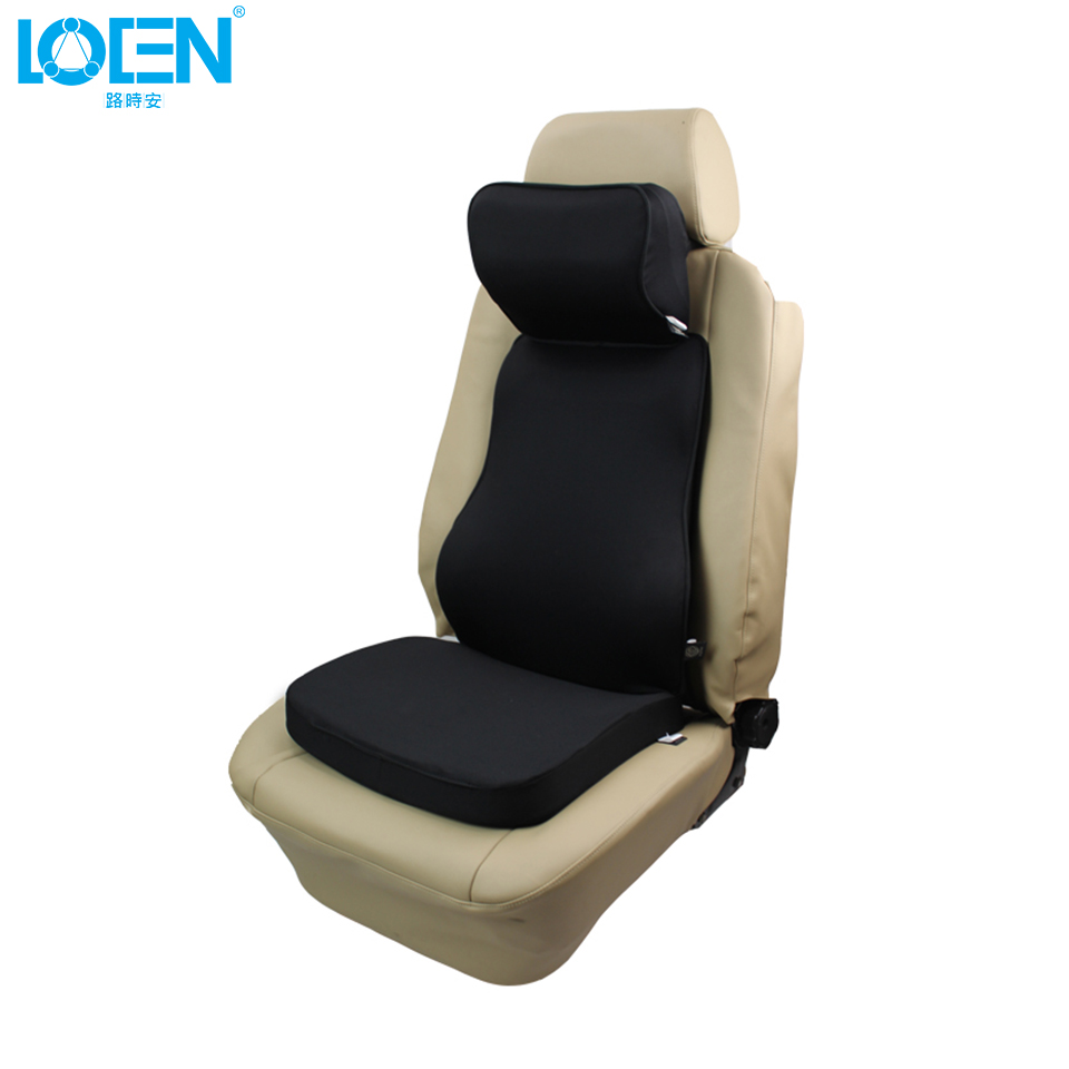Loen super soft car cushion set memory foam car lumbar support set back lumbar neck pillow seat cushion for driving office home in seat supports from