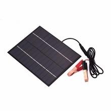 Cewaal Portable 12V 5.5W Solar Panel Power Bank DIY Solar Charger External