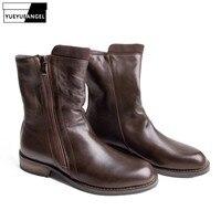 Высокое качество, зимние модные мужские ботинки в стиле милитари, ковбойские ботинки martin из натуральной кожи, армейские мужские повседневн