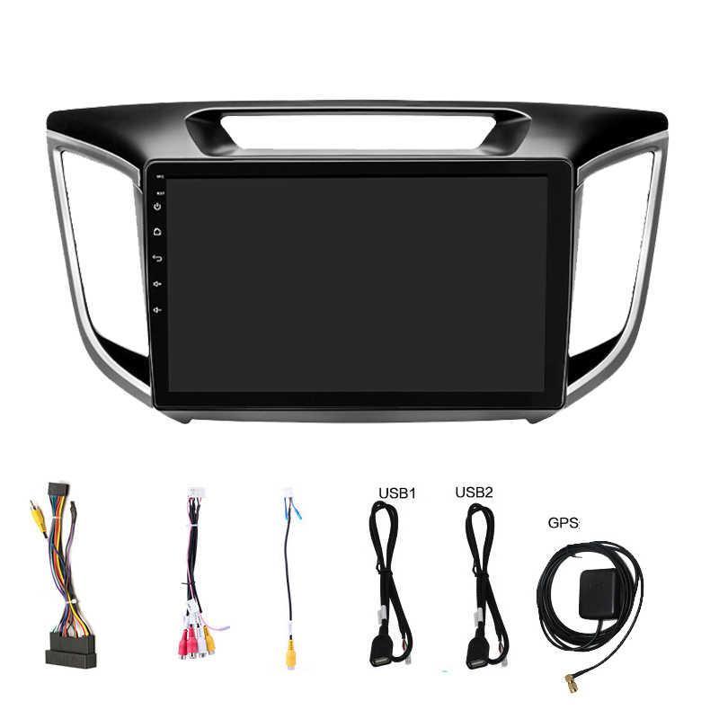 Android 8.1 car dvd player gps Para Hyundai ix25 Creta com reprodução de vídeo multimídia estéreo rádio e navegação do carro IPS HD