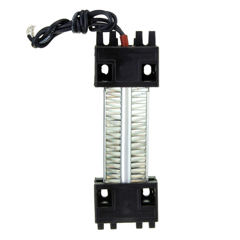 Surface Insulated 100W 220V Ceramic Thermostatic PTC Heating Element Electric Air Heater 11.5 x 3.5cm AC/DC