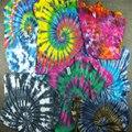 Homens da moda Verão Camisa de Manga Curta T Espiral Estrela Ray Colorido Tops Hipster Streetwear Skate Handmade Tie Dye T-shirt