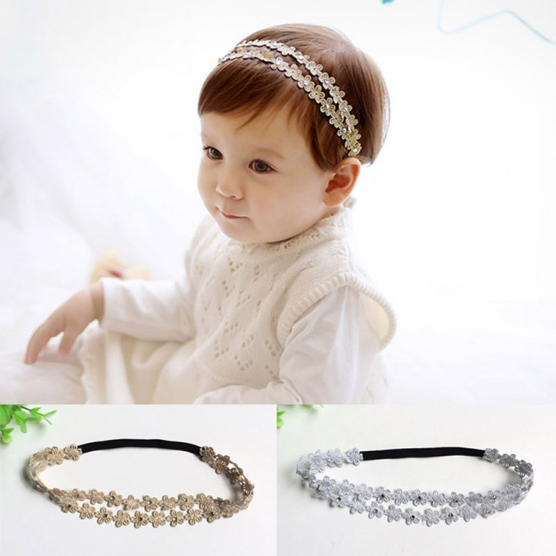 Cute Rhinestone Headband Hairband Baby Girls Flowers Headbands Hair Accessories L07