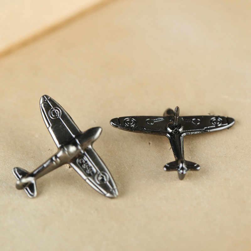 1 PC 合金アンティークブロンズカラー飛行機レトロ飛行機ブローチピンとブローチバッジラペルピン男性のための