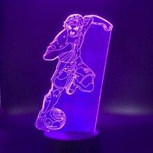 Manga Captain Tsubasa Football Player Figure 3d Led Night Light Indoor Room Kids Nightlight Kyaputen Table Lamp Bedside