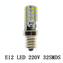 1X Silicone NO Dimmable G4 E12 LED Lights AC 220V 240V 24/32/48/72/ 120 LEDs Clear Corn Bulb Lamp For Crystal Chandelier Light