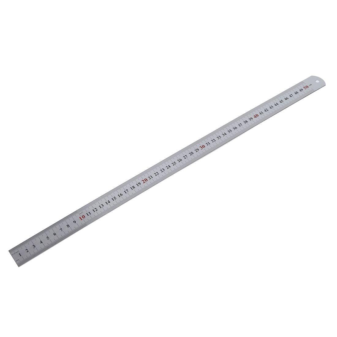 50cm Long Measuring Straight Ruler Drawing Tool Metal Rulers