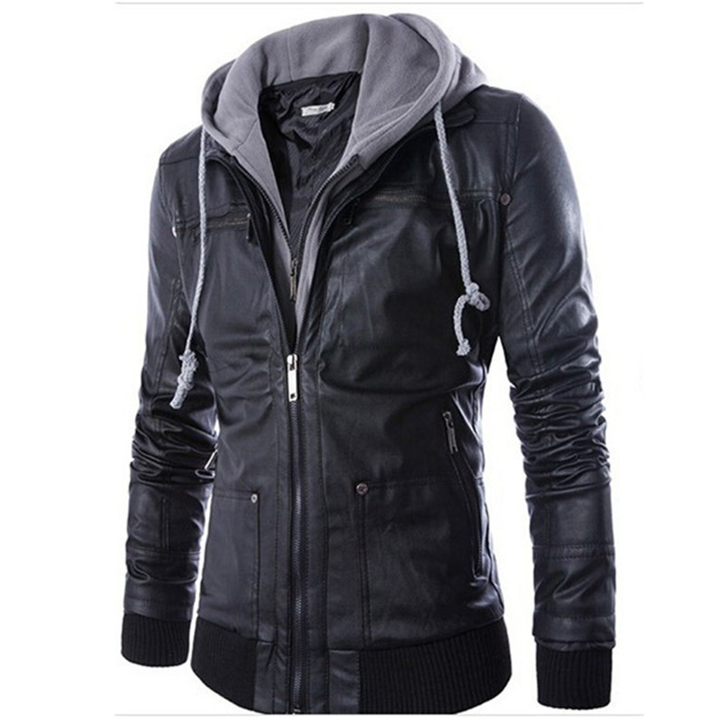Popular Hooded Leather Jacket-Buy Cheap Hooded Leather Jacket lots ...