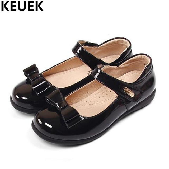 New Girls Leather Shoes Student Princess Patent Leather Dance Bowknot  Casual Flat Shoes Kids Toddler Comfortable Flats Baby 04 0b4a795d418e