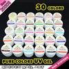 20203 2016 New Nail Art Professional CANNI 24 Color Pure Color Uv Gel Kit Uv