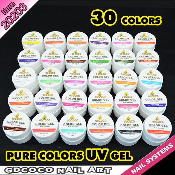 #20203 New nail art professional CANNI 30 color pure color uv gel kit, uv color paint gel kit,uv color gel kit color kit багетная рама color kit платина 30х30 см