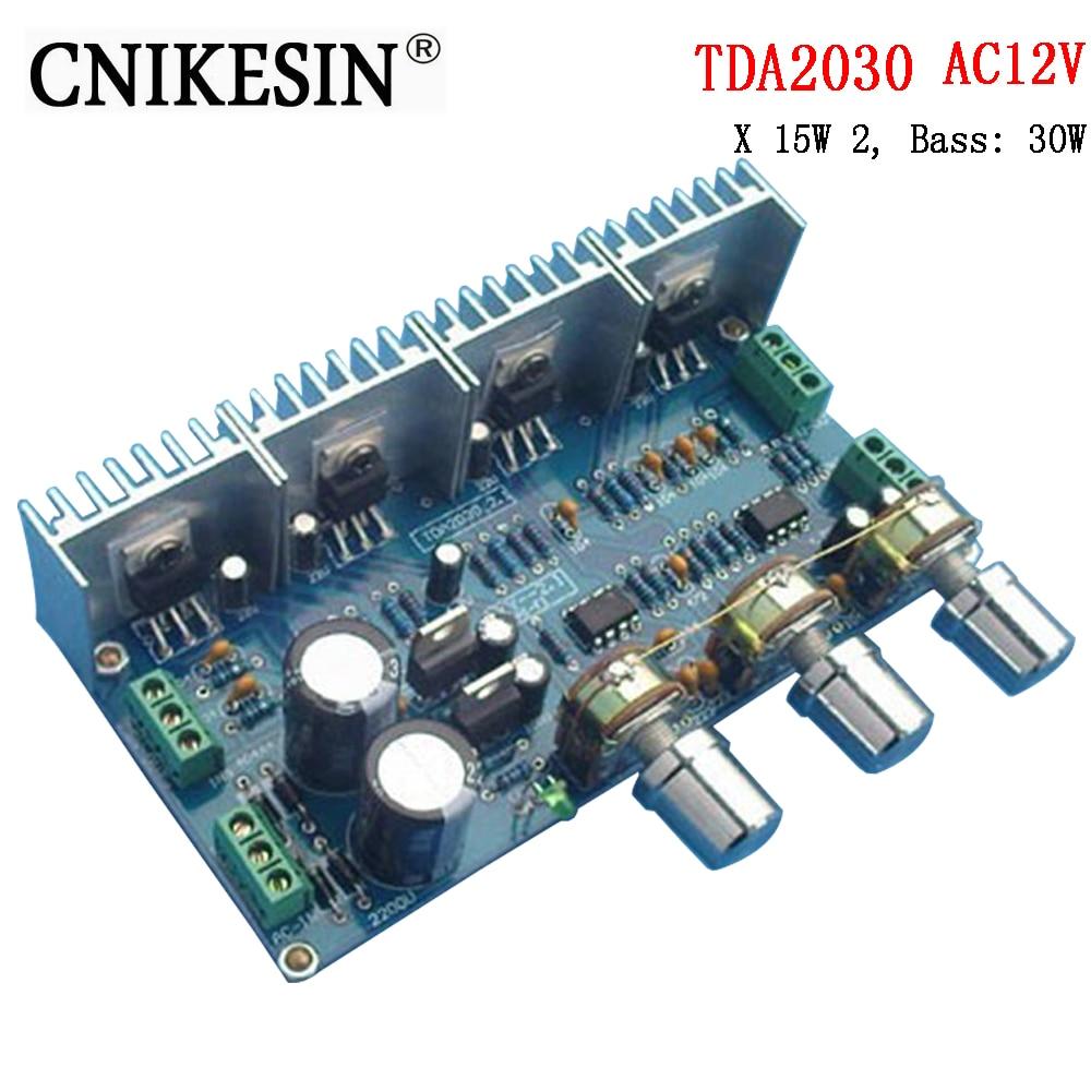 CNIKESIN diy Kkits TDA2030 2.1 channel amplifier power amplifier board parts kit about sound X 15W 2, Bass: 30W
