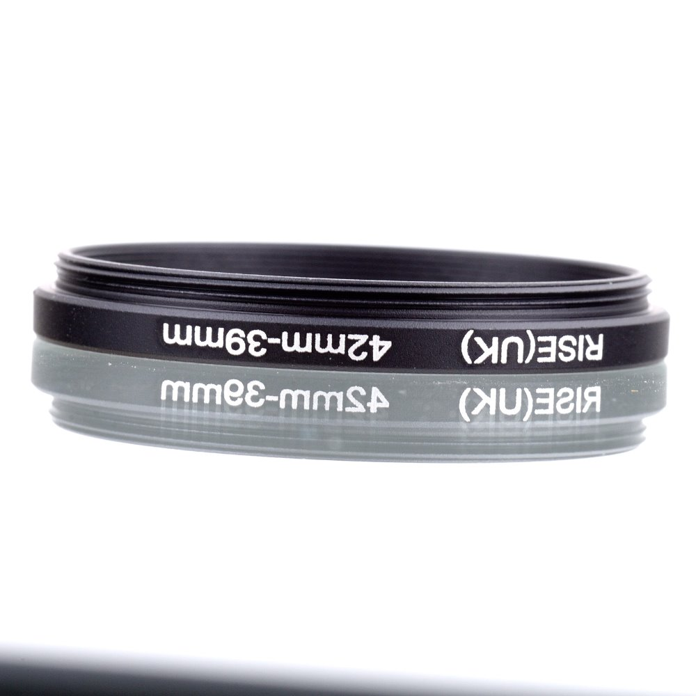 RISE(UK) 42mm-39mm 42-39 mm 42 to 39 Step down Ring Filter Adapter black free shipping