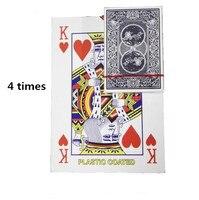 Розничная продажа, Бесплатная доставка, 4 размера обычной игральной карты, семейные вечерние развлечения, большое полотно Волшебный покер