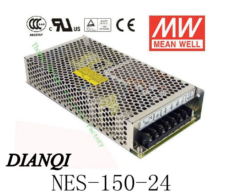 Original MEAN WELL power suply unit ac to dc NES-150-24 150W 24V 6.5A original nes 150 24 megawatts of electricity
