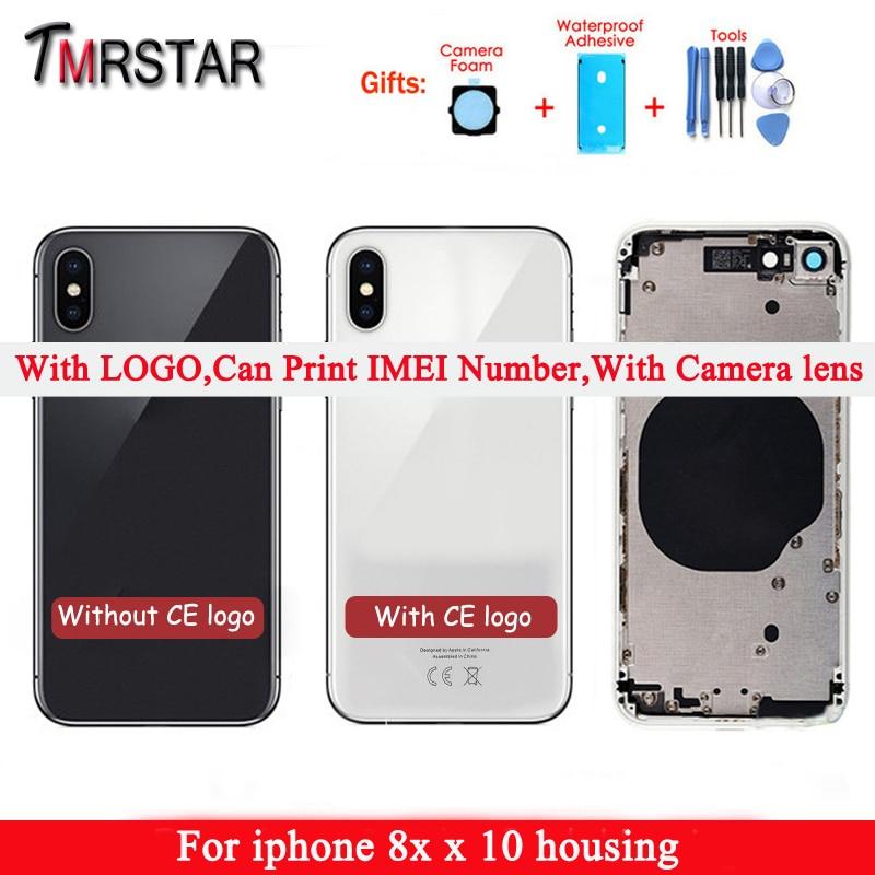 Для iphone x Вернуться Ближний рамки шасси полный корпус сборки для iphone крышка для аккумулятора сзади 10 8x корпус