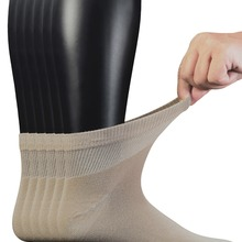 Men s 6 Pairs Combed Cotton Diabetic Ankle Socks with Seamless Toe and Non Binding