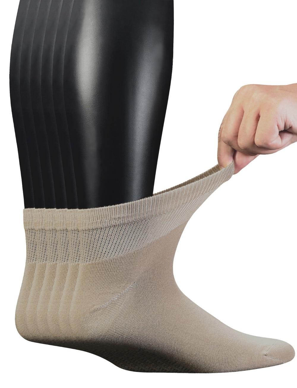 Мужские носки до щиколотки из чесаного хлопка, 6 пар, бесшовные носки без косточек, Размер 10-13