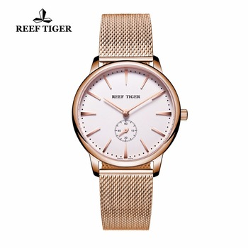 Reef Tiger/RT Casual Couple Watches for Men Rose Gold Tone Analog Quartz Watch RGA820 1
