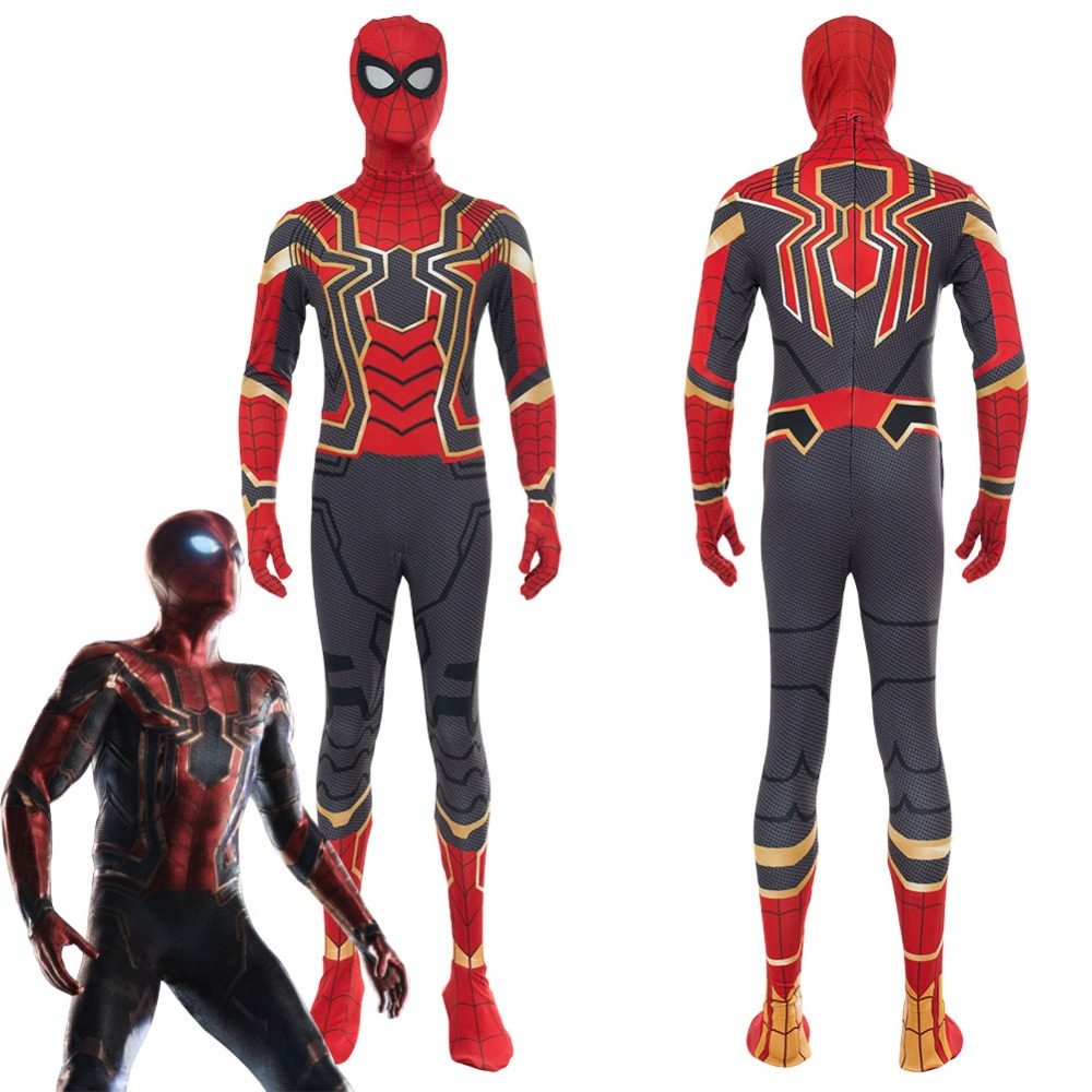 Avengers Infinity War Captain America Cosplay Iron Spider Spider-Man Homecoming Costume Spiderman Peter Parker Tom Holland