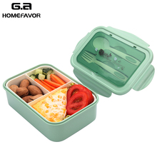 цена на Microwavable Lunch Box For Kids Food Grade Bento Box Food Containers Leakproof Food Storage Preservation Portable Box New