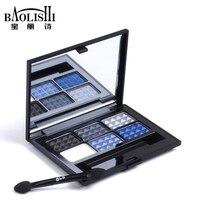 Baolishi 6 Color Smokey Naked Eyeshadow For Blue Eyes Palette Best Professional Brown Shimmer Glitter Eyes