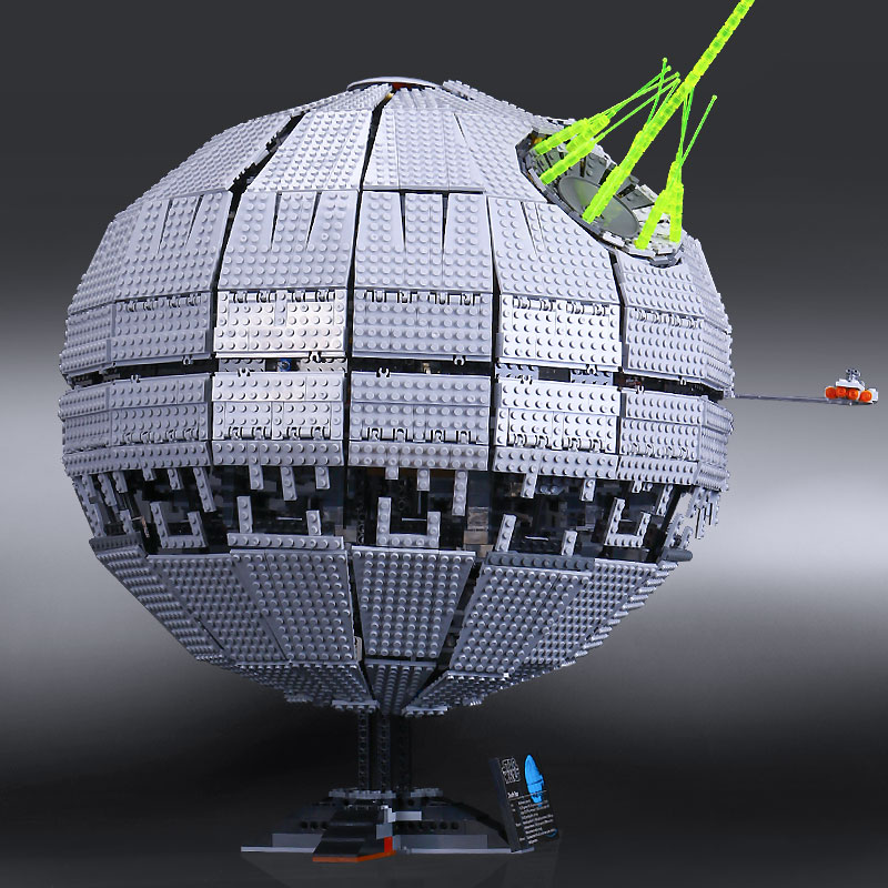 IN STOCK LEPIN 05026 3449Pcs Star Wars Death Star II Model Building Kits Blocks Bricks Compatible Chilsren Toys Gift With 10143