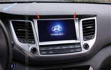 ABS ! For Hyundai Tucson 2016 2017 2018 Interior Dashboard Navigation GPS Multimedia Display Screen Frame Cover Trim