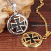 Granny Chic Brand Metal Swastika Pendant Necklaces Stainless Steel Black Iron Cross Pendant Necklace Men S