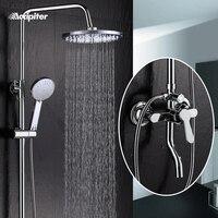 Top Quality shower faucet set bathroom shower mixer bathtub taps with chrome shower head torneira tap