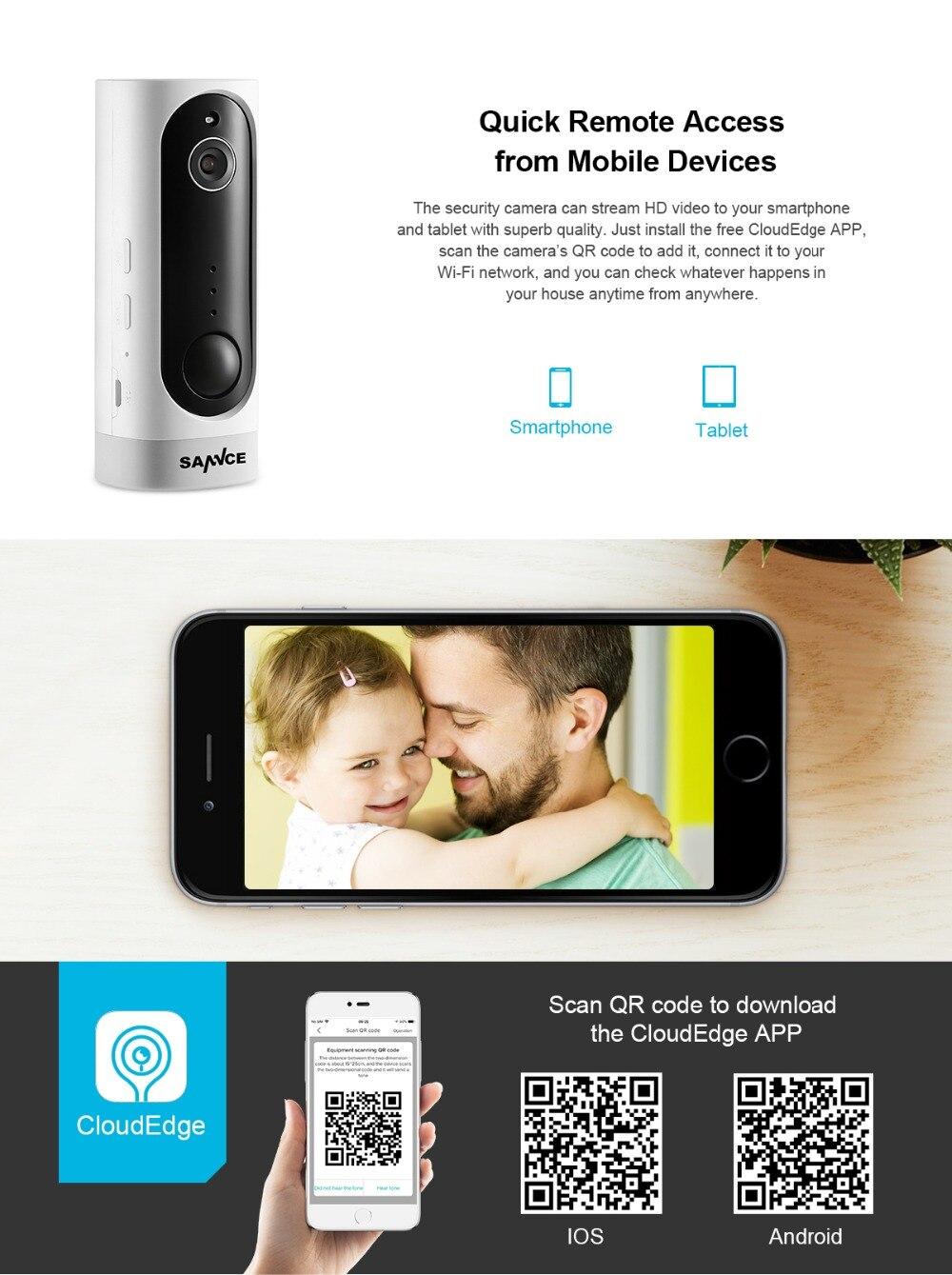 SANNCE 720P HD Mini IP Camera WiFi Wireless Night Vision